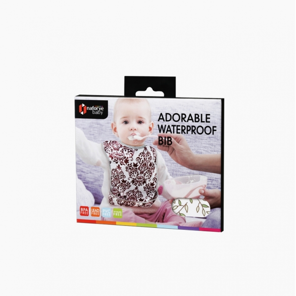 Adorable Waterproof Bib / Italian manor / 17007_package