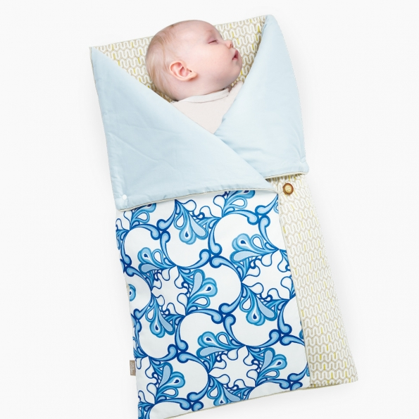 4-in-1 Swaddle Pouch & Blanket / Diamond lattice / 17040-2