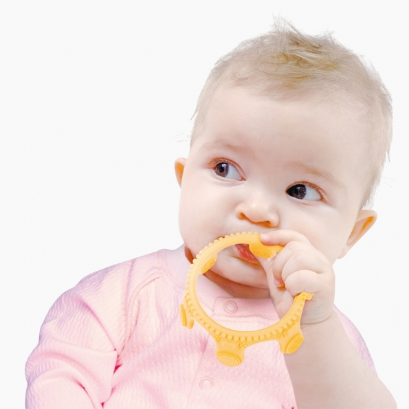 Crown Little Bit Silicone Teether / Blue / 18002-2