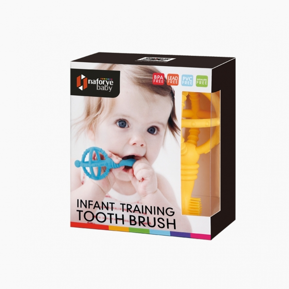 Infant Training Toothbrush / Yellow / 18004_package