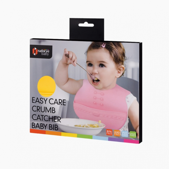 Easy Care Crumb Catcher Baby Bib / Yellow / 18013_package