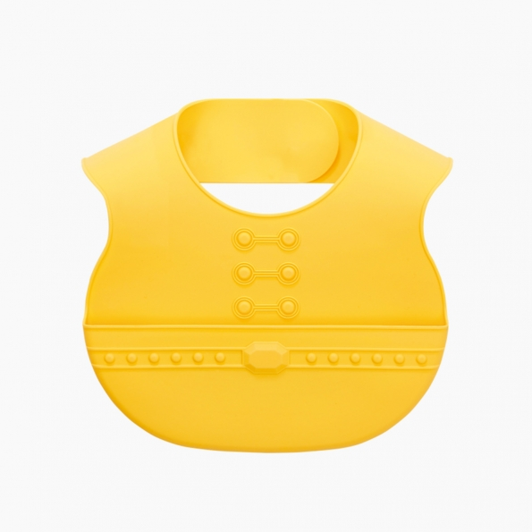 Easy Care Crumb Catcher Baby Bib / Yellow / 18013-1
