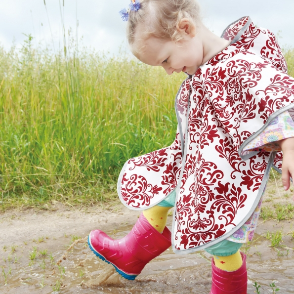 Toddler Rain Poncho / Burgundy / 17021-2