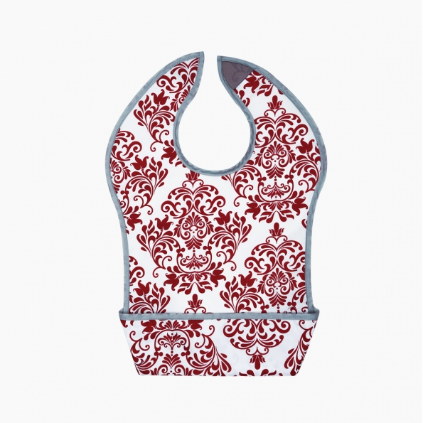 Adorable Waterproof Bib / Burgundy / 17009-1