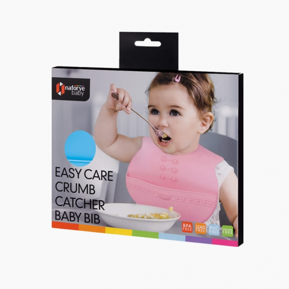 Easy Care Crumb Catcher Baby Bib / Blue / 18014_package