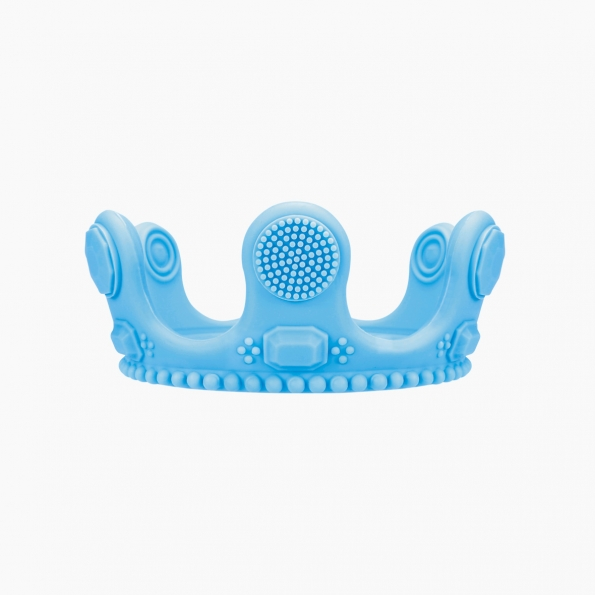 Crown Little Bit Silicone Teether / Blue / 18002-1