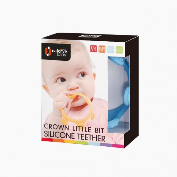 Crown Little Bit Silicone Teether / Blue / 18002_package