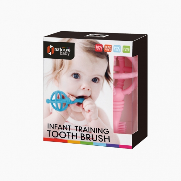 Infant Training Toothbrush / Pink / 18006_package