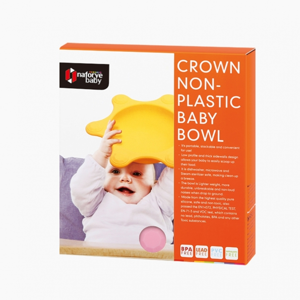 Crown Non-Plastic Baby Bowl / Pink / 18012_package