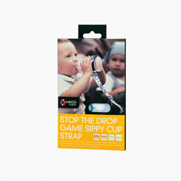 Stop the Drop Game Sippy Cup Strap / Blue building blocks / 21012_package