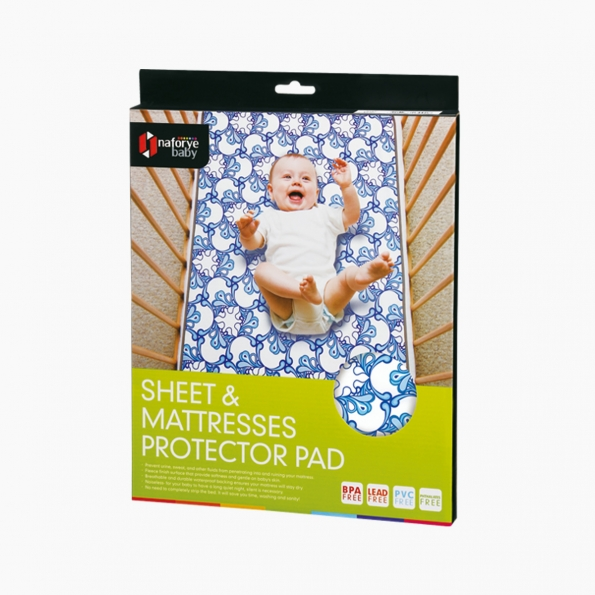 Sheet and Mattresses Protector Pad / Pacific waves / 17002_package