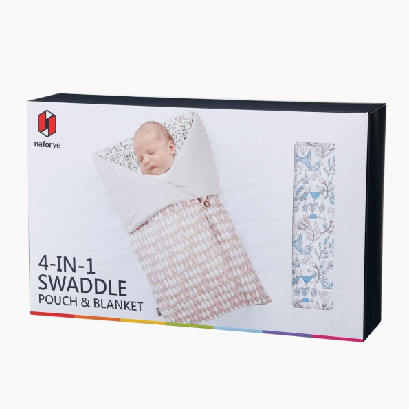 4-in-1 Swaddle Pouch & Blanket / Owl / 17041_package