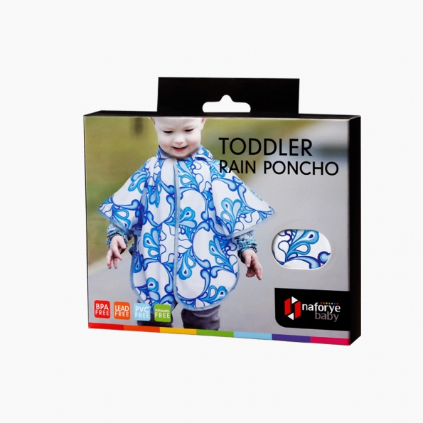 Toddler Rain Poncho / Pacific waves / 17020_package