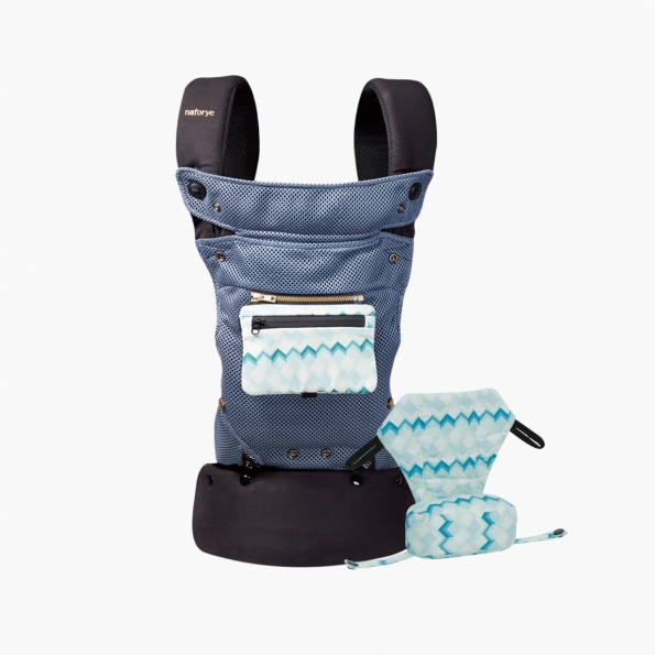 So-Flexible AIR+ Baby carrier / Blue building blocks / 20014-1