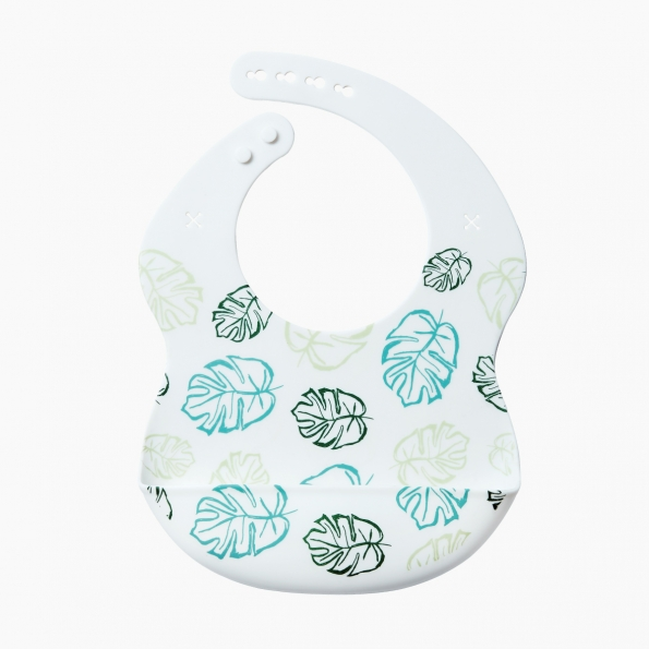 Baby Silicone Feeding Bib / Leaves of spring / 18019-1