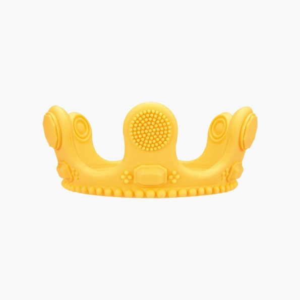 Crown Little Bit Silicone Teether / Yellow / 18001-2
