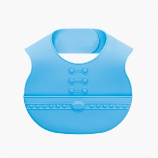 Easy Care Crumb Catcher Baby Bib / Blue / 18014-1