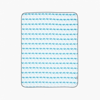 Sheet and Mattresses Protector Pad / Blue building blocks / 17006-1
