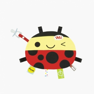 Labels Cuddle Blanket / Ladybug / 99551-1