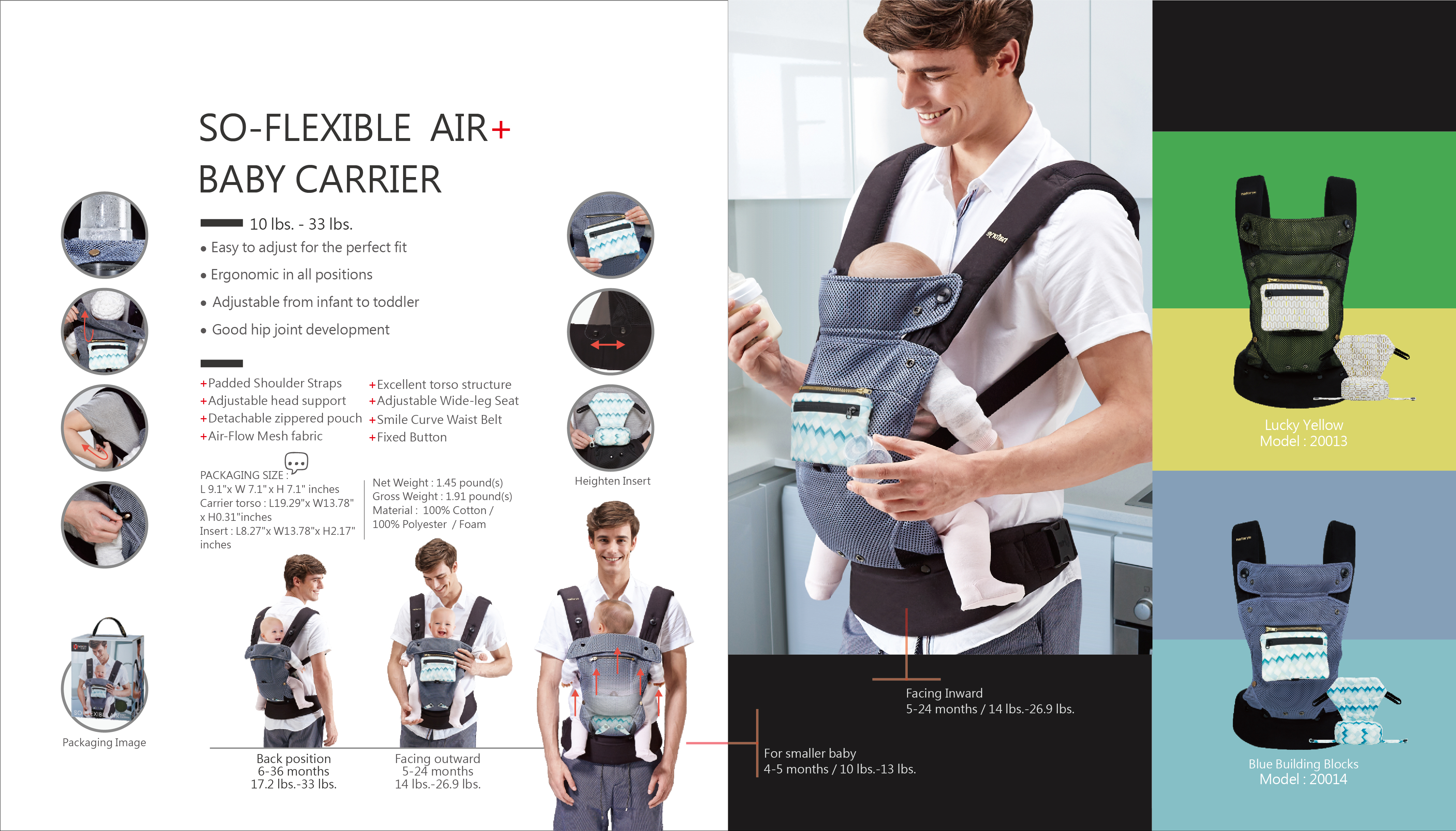 So-Flexible AIR+ Baby carrier