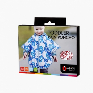 Toddler Rain Poncho / Burgundy / 17021_package