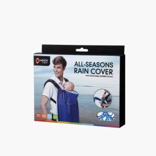 All-Seasons Rain Cover with Detachable Zippered Pouch / Pacific waves / 20020_package