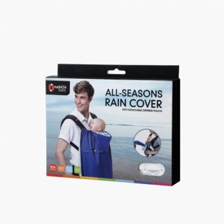 All-Seasons Rain Cover with Detachable Zippered Pouch / Black Knight / 20022_package